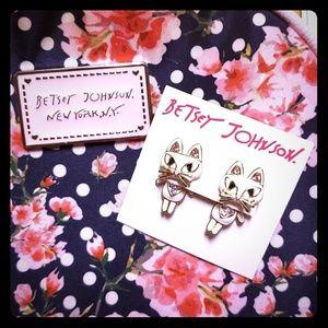 Betsey Johnson Kitty Cat Earrings